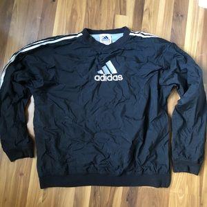 Adidas Men Vintage Pullover Windbreaker Size XL